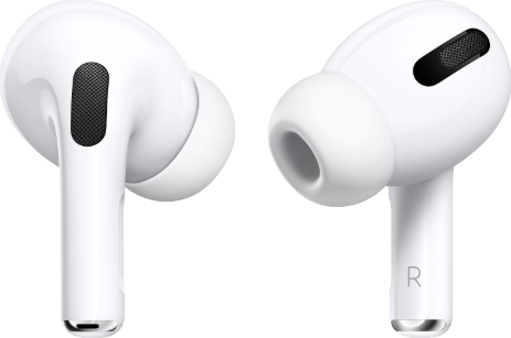 Actual size image of  Airpods Pro .