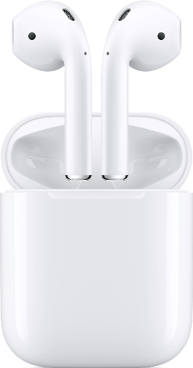 Actual size image of  AirPods .