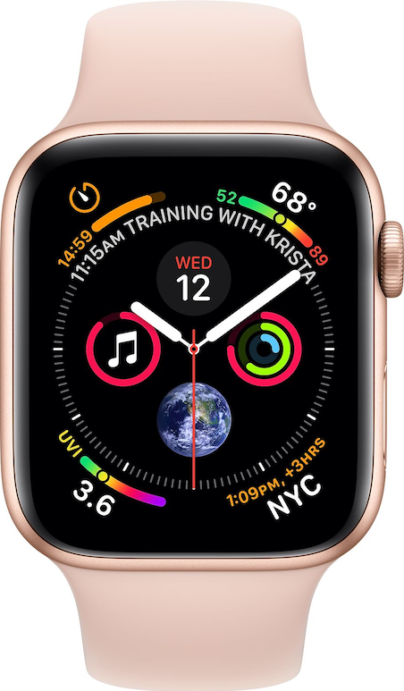 Verklig storlek bild av  Apple Watch Series 4 (40mm) .