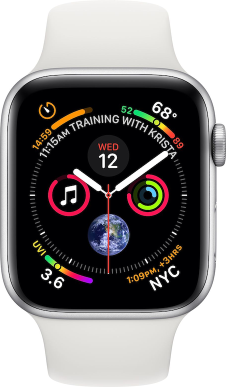 Verklig storlek bild av  Apple Watch Series 4 (44mm) .