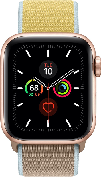 Todellinen koko kuva  Apple Watch Series 5 (40mm) .