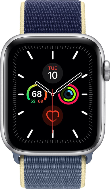 Imagen a tamaño real de  Apple Watch Series 5 (44mm) .