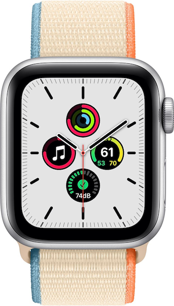 Todellinen koko kuva  Apple Watch Series 6 (40mm) .