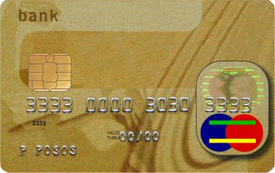 Actual size image of  Credit Card or ATM Card .