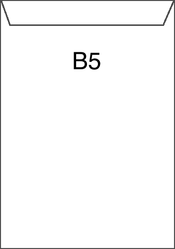 Actual size image of  B5 Envelope .