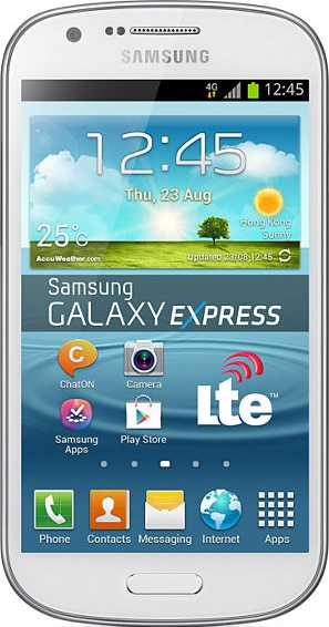 Actual size image of  Samsung Galaxy Express .