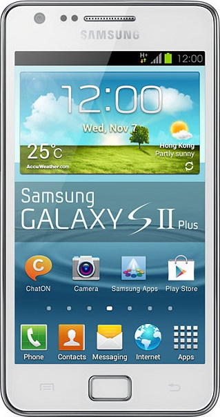 Actual size image of  Samsung Galaxy S2(s ii) .