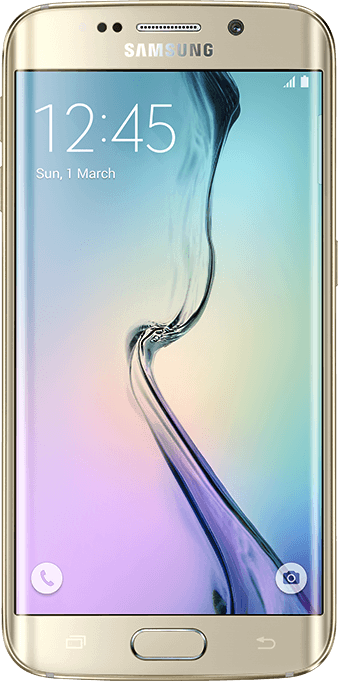 实际尺寸图像 Samsung Galaxy S6 Edge 。
