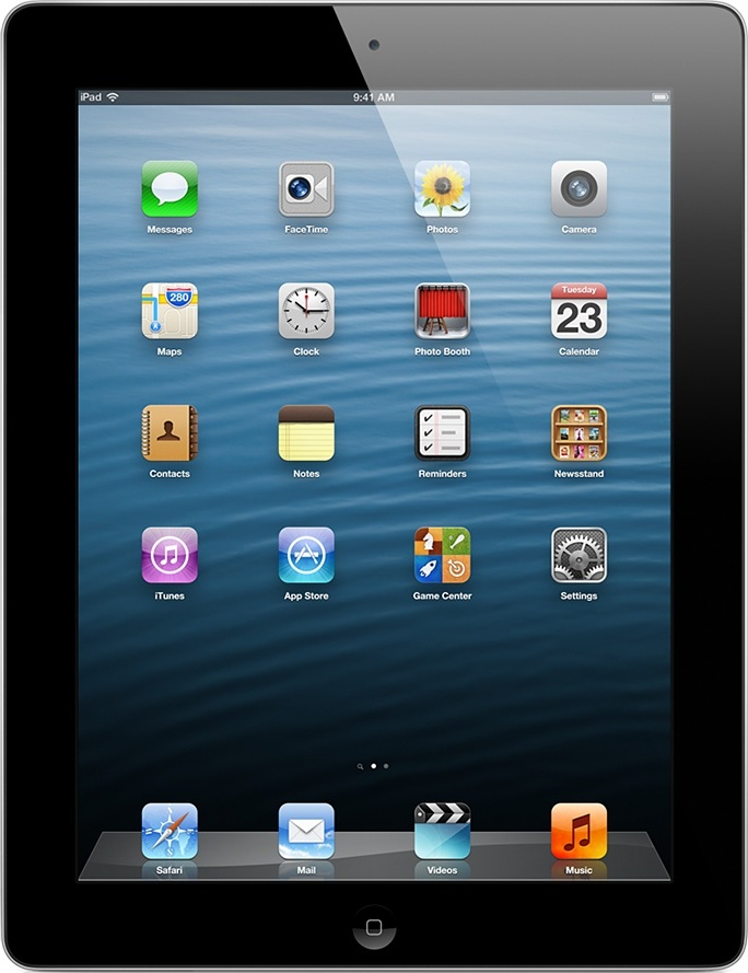 Actual size image of  iPad 2 .