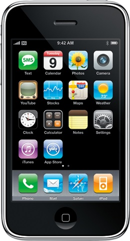 Actual size image of  iPhone 3gs .