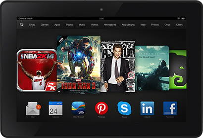 "Actual size image of  Kindle Fire HDX 8.9"" ."