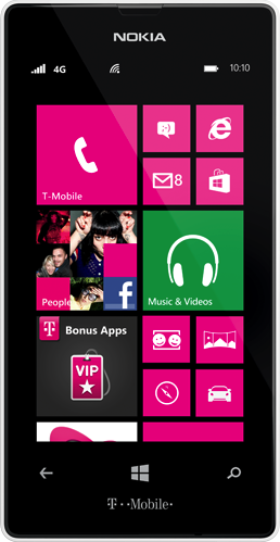 Actual size image of  Nokia Lumia 521 .