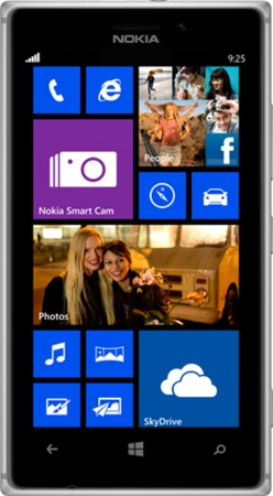 Actual size image of  Nokia Lumia 925 .