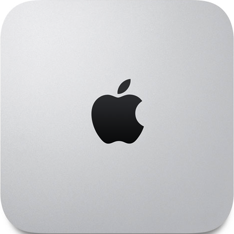 Actual size image of  Mac Mini .