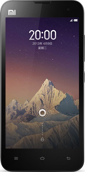 Actual size image of  xiaomi 2s .