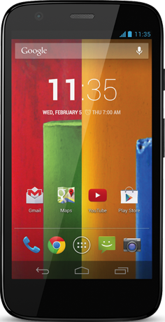 Actual size image of  Moto G .