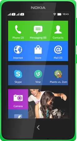 Actual size image of  Nokia X .