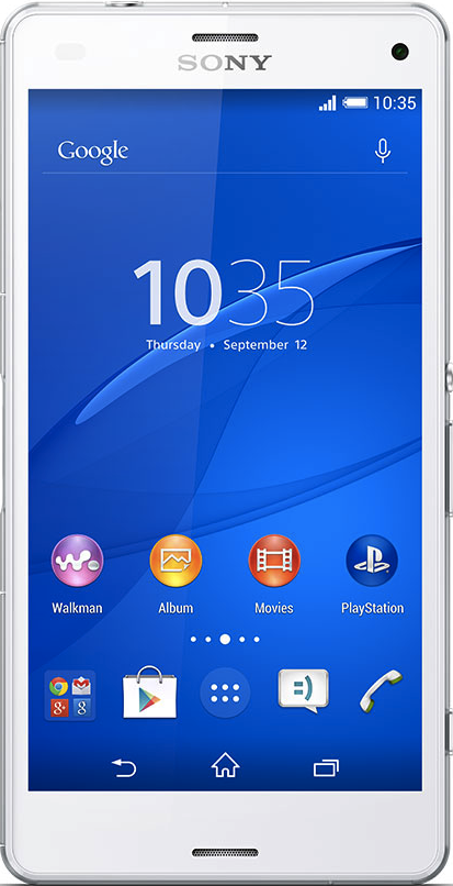 Actual size image of  Sony Xperia Z3 Compact .