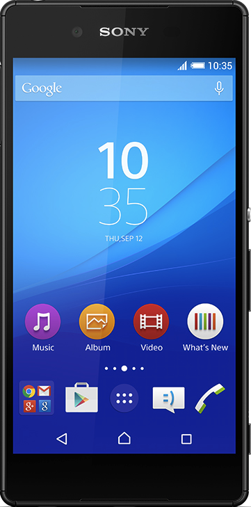 Actual size image of  Sony Xperia Z3+ .