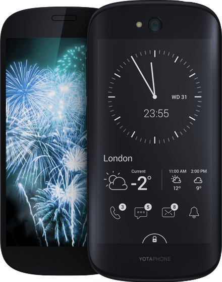 Actual size image of  YotaPhone 2 .