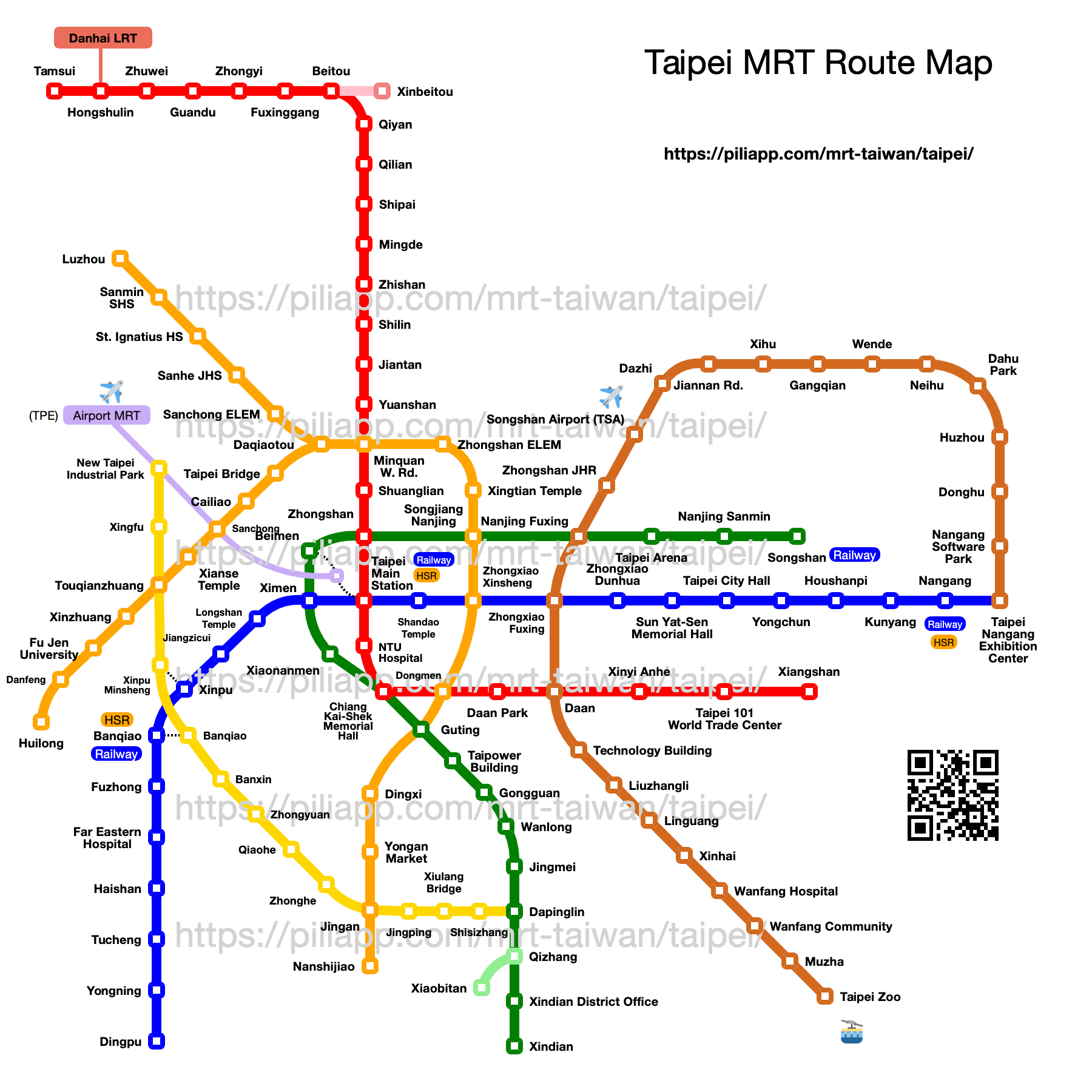 Taipei MRT Roadmap